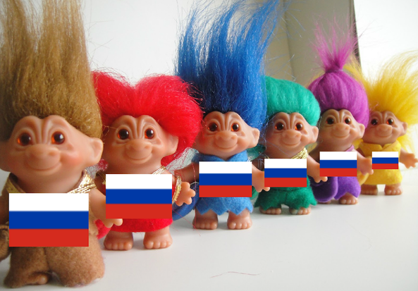 niet de Russische trollen in dit verhaal