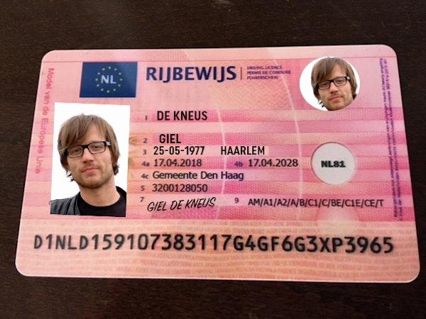 rijbewijs van een willekeurige alcomobilist
