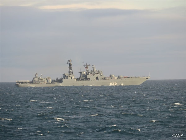 Udaloy-class destroyer Vice-Admiral Kulakov.The ship is pictured off Scottish waters.