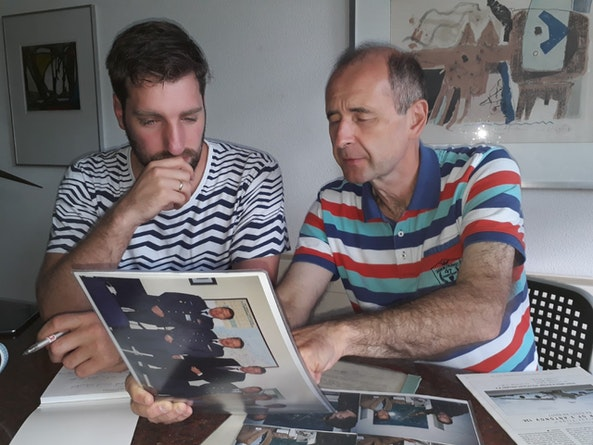 Andreas Kouwenhoven (NRC, links) en Constantin Karmanov