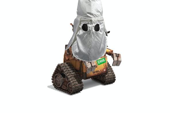 We zien heus wel wie daar onder zit, ROBOT JETTEN!
