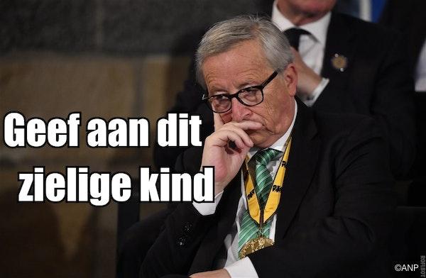 op de foto: Juncker en GEEN privé-vliegtuig