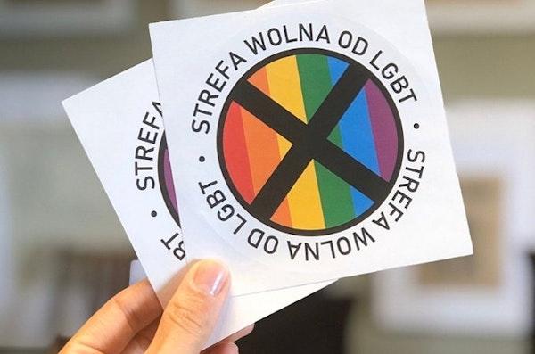 "Sticker zegt ""LGBT-vrije zone"""