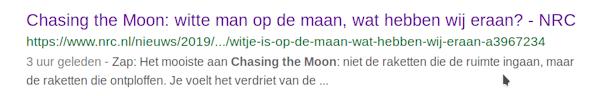 Bind deze huilstruik eens op een maanraket
