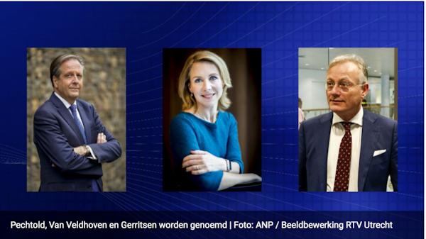 Pechtold, Van Veldhoven en Gerritsen worden genoemd (Foto: Screenshot GeenStijl van beeldbewerking RTV Utrecht)