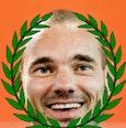 de beroemde voetballer W. Sneijder