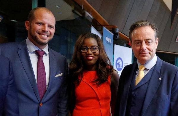 Met Bart de Wever en Theo Francken
