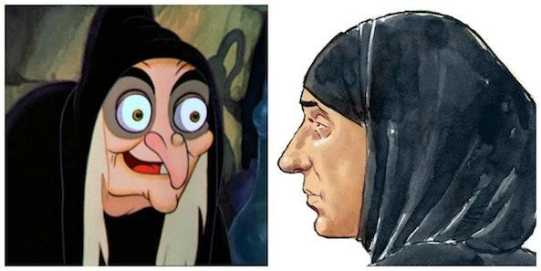 de ene is een verschrikkelijke heks, de andere speelde een rol in een Disney-film