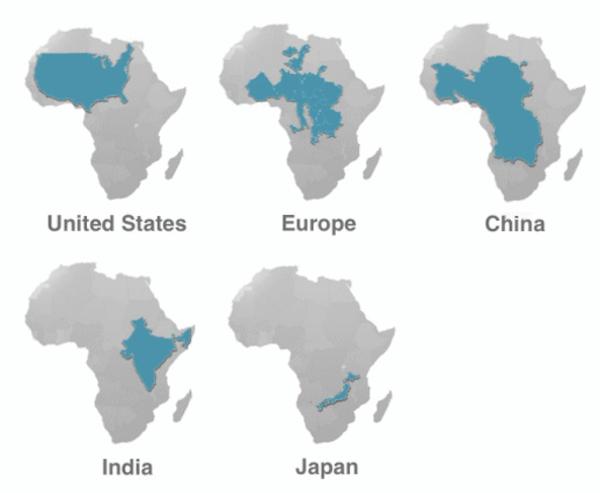 Waar een klein continent al niet klein in kan zijn