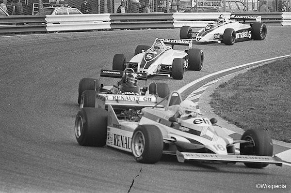 Training van de Grand Prix Formule 1 van 1981 op het circuit van Zandvoort