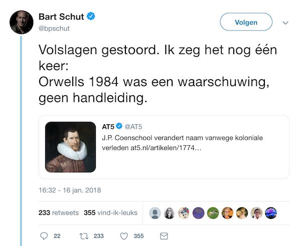 Bart zegt het nog één keer jongens