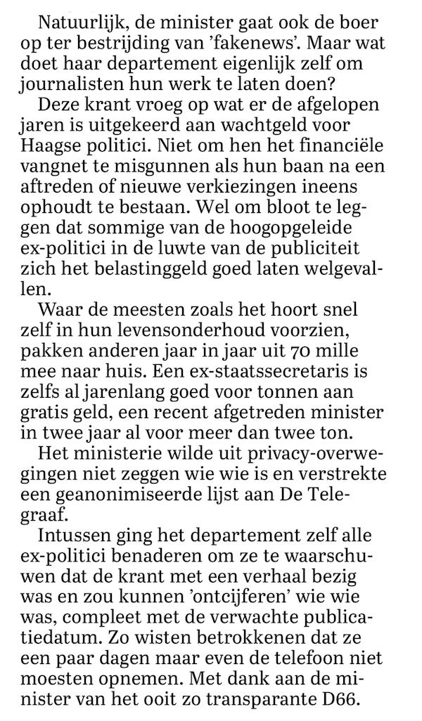 Dichtgetikte haatbureaucraat van D66