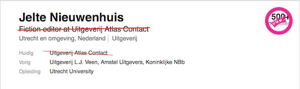 Atlas Contact Verbroken